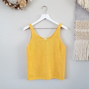 Lucky Brand | Mustard Chunky Knit Sweater Tank Top